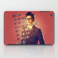 david tennant iPad Cases featuring DON'T BLINK! David Tennant - Doctor Who by KanaHyde