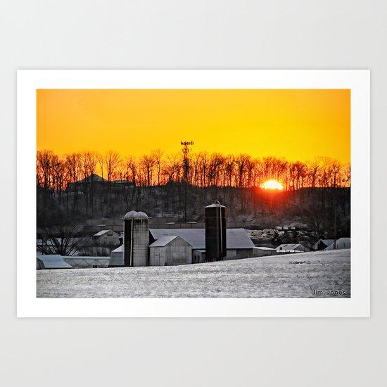 Mid-Winter Sunrise Art Print