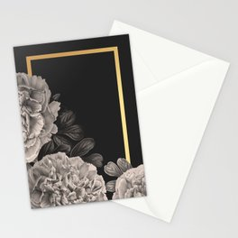 Flowers on a winter night Stationery Cards