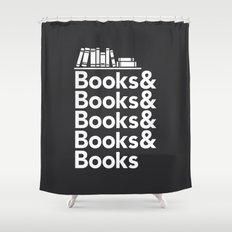 Books & Books & Books Shower Curtain