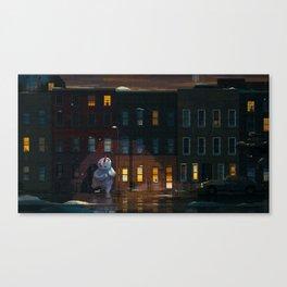 Bushwick Winter Canvas Print