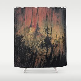 when nobody it's here Shower Curtain