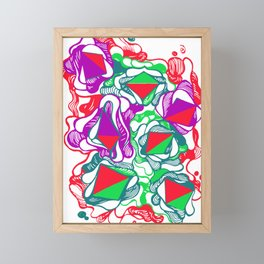 abstract  pattern tropical Framed Mini Art Print
