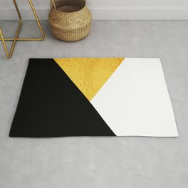 Gold & Black Geometry Rug