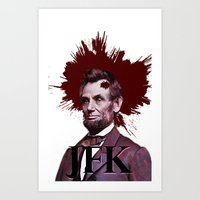 jfk Art Prints featuring JFK by ClimbTheBell