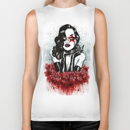 Lady Of The Roses Biker Tank