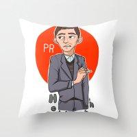 pacific rim Throw Pillows featuring Herman Gottlieb Pacific Rim by TheDigitalPandora