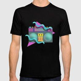 Retro Eighties Boom Box Graphic T-shirt