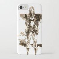 metal gear iPhone & iPod Cases featuring Metal Gear Solid wolf by Hisham Al Riyami