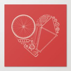 Love Bike (On Red) Canvas Print