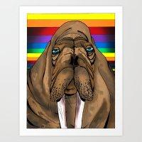 Fruity Walrus  Art Print