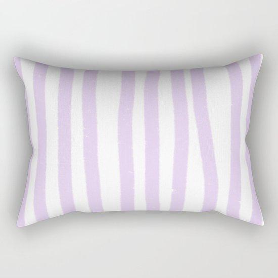 Lavender Stripes Rectangular Pillow
