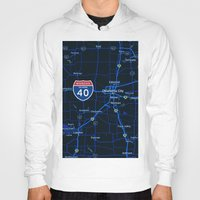 oklahoma Hoodies featuring oklahoma map by Larsson Stevensem