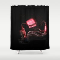 obey Shower Curtains featuring OBEY by Oddworld Art