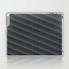 though she be but little, she is fierce - diagonal stripe Laptop & iPad Skin