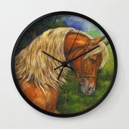 Sorrel Horse with Light Mane Wall Clock