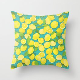 Lemon Duck Throw Pillow