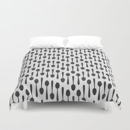 Kitchen cutlery spoons Duvet Cover