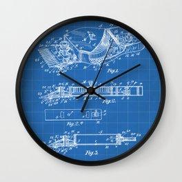 Barber Hair Clippers Patent - Barber Shop Art - Blueprint Wall Clock