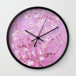 Vincent Van Gogh Almond BlossomS. Pink Lavender Wall Clock
