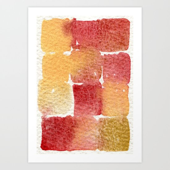 Watercolor abstract 9 Art Print