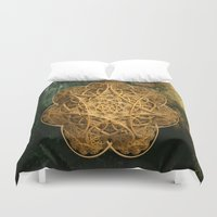 celtic Duvet Covers featuring Celtic Gold by Lynn Bolt