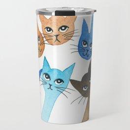 Chantilly Whimsical Cats Travel Mug