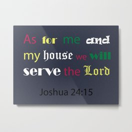 Bible verse Metal Print
