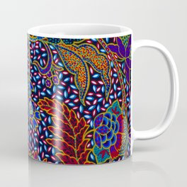 Tahitian Island Style Exotic Pattern Coffee Mug