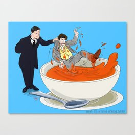 Pulled from the Soup Canvas Print