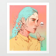 If I Could Only Live Once More Art Print