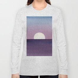 Moonset Watercolor Long Sleeve T-shirt