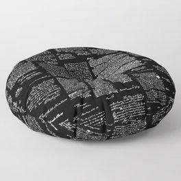 George Washington's Letters // Black Floor Pillow