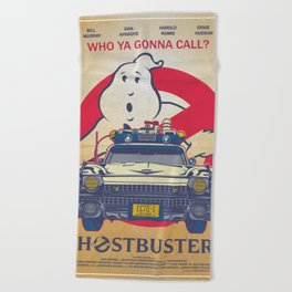 Who ya gonna call? Ghostbusters Movie Poster Beach Towel