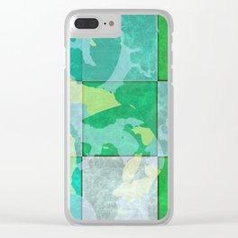 Tiled abstract Clear iPhone Case