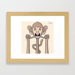 Unhinged Rascal Framed Art Print