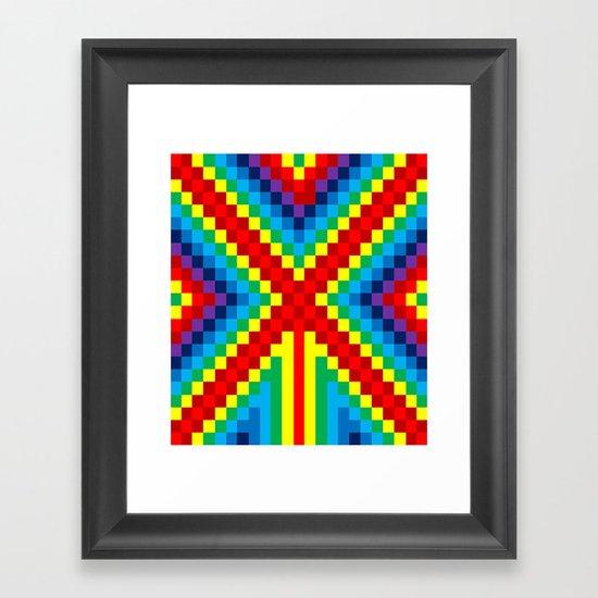 Fuzz Line #4 Framed Art Print