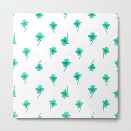 Flowers Silhouette Pattern Design Metal Print