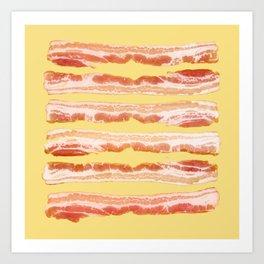 Bacon, Raw Art Print