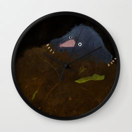 Mole in a Hole Wall Clock