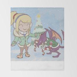 Samus in Christmas Throw Blanket