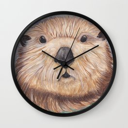 Surprised Otter Wall Clock