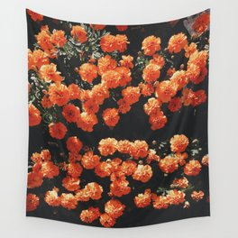 Orange flower fleurs Wall Tapestry