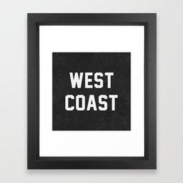West Coast - black version Framed Art Print