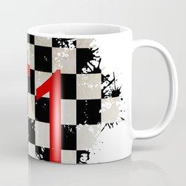 The Chequered Splatter Coffee Mug