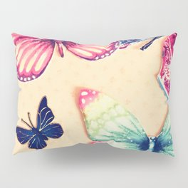 Rainbow butterflies Pillow Sham