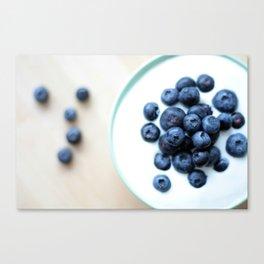 Blueberries & Yogurt  Canvas Print