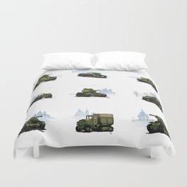 WWII combat vehicles (USSR) Duvet Cover