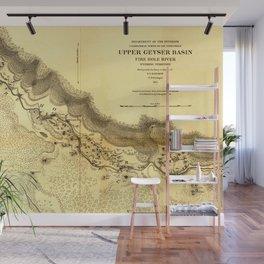 Upper Geyser Basin Wall Mural
