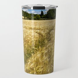Golden wheat field poetry Travel Mug